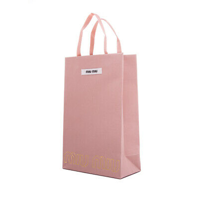 NEW Miu Miu by Prada Pink Shopping Gift Bag Small Designer Paper Sunglasses (Shop Miu Miu Sunglasses)