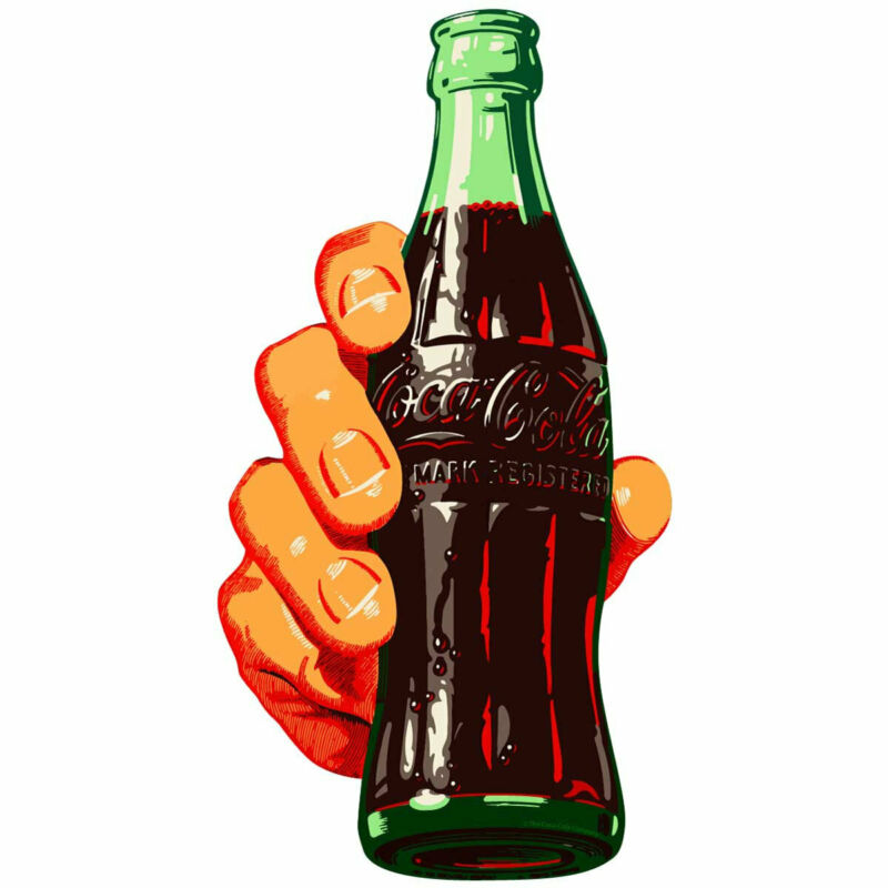 Coca-Cola Bottle in Hand Decal Peel & Stick Wall Graphic