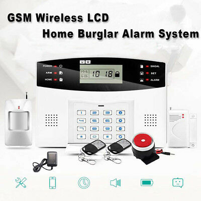 GSM Wireless Burglar Security Alarm System Home Door Window Sensor Detector Lot Gsm Home Security System