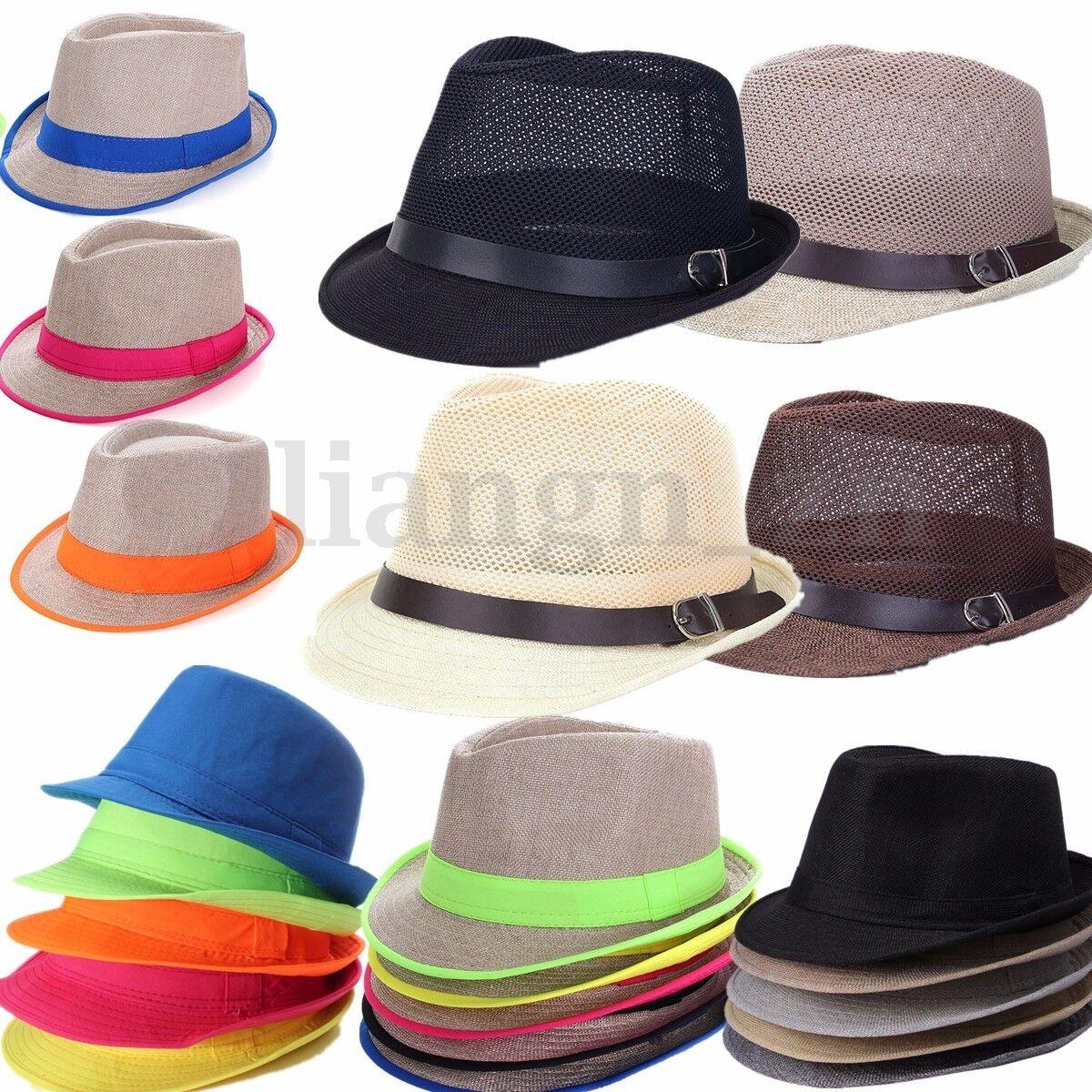 Homme Femme Chapeau Panama Jazz Eté Plage Mode Soleil Capeline Bonnet Unisexe
