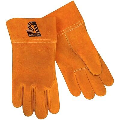 Steiner 0213-m Unlined Cowhide Leather Mig Welding Work Gloves Size Medium