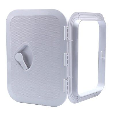 """MARINE BOAT Deck Access Hatch & Lid 14-3/4"""" X 10-5/8"""" WATER TIGHT- WHITE EFP"""