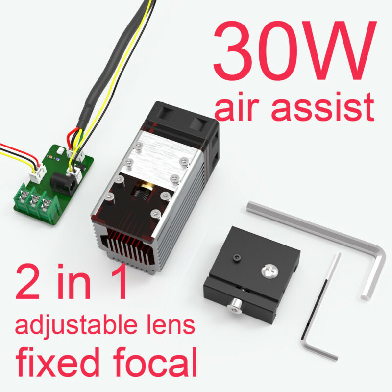 30W CNC Laser Module head FOR Laser engraving cutting machine & tranfer board