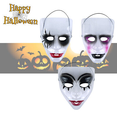Transparent Face Mask Mardi Gras Purge Halloween Plastic Fancy Dress Carnival ()