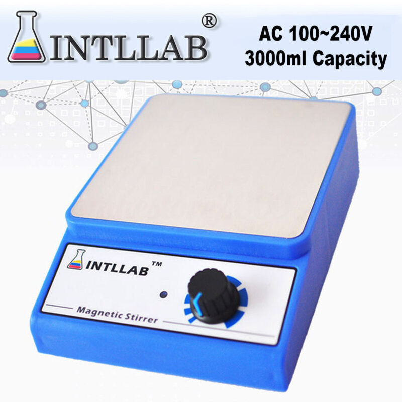 Magnetic Stirrer Laboratory Lab INTLLAB Mixer With 3000rpm AC 100V-240V New
