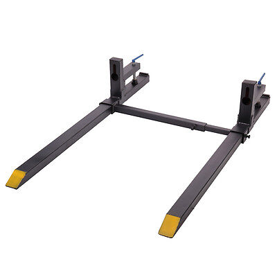 1500 Lbs Clamp On Loader Bucket Skidsteer Tractor Pallet Forks Chain