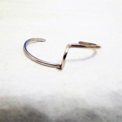 Vintage Sterling Silver Curved Wave Cuff Bracelet Signed Tv.T 8.1g