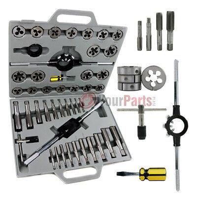 Standard Tap And Die Set 45 Piece Sae Tungsten Steel Alloy Renewing Tools Thread