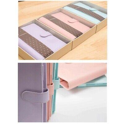 Us A6 Loose Leaf Notebook Leaf Ring Leather Cover Weekly Binder Planner