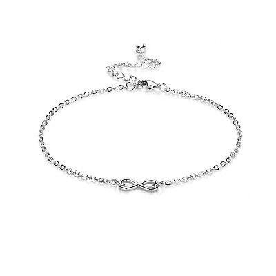 Silver Infinity Anklet with Crystals from Swarovski®