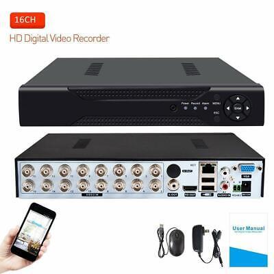 16 Channels Hybrid DVR H.264 CCTV Security Camera System Digital Video Recorder