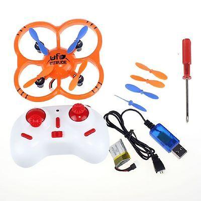 Andoer U207 Gyro 4CH Intruder mini Orange Quadcopter 6 Axis UFO Toys w/LED light