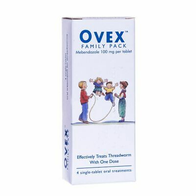 Ovex Family Pack Contains Treatments For Threadworm  - 1 Pack Of 4 Tablets
