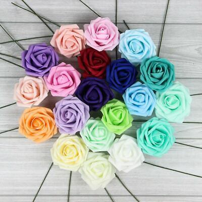Foam Flowers (10X Colourfast Foam Roses Artificial Flowers Party Wedding Bouquet Home)