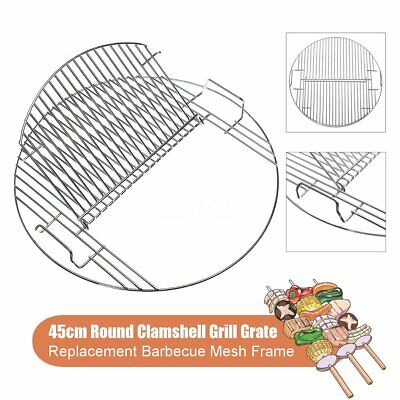 45cm Round Barbecue Net Charcoal Grill Grate Mesh Frame Lifted Steel US! BBQ Tools & Accessories
