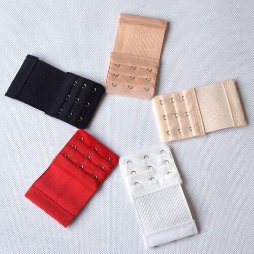 10 X Adjustable Bra Buckle Extender Bra Extension Underwear Strap 2//3 Hooks Lot