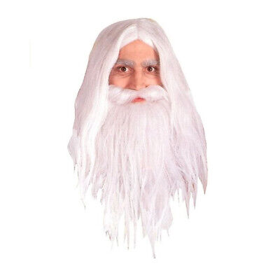 Mens Lord Of The Rings Gandalf Beard And Wig Set | RUBIES 50943 - Lord Of The Rings Beards