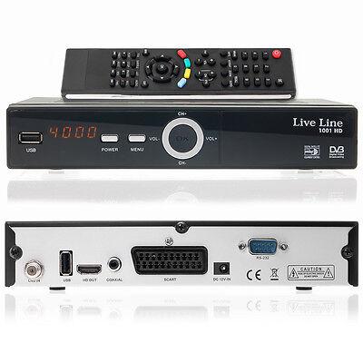 Live Line HD 1001 HDTV SAT Satelliten Receiver FULL HDTV DVB-S2 HDMI SCART USB