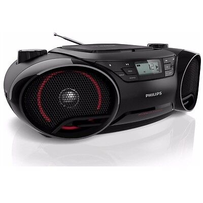 Philips AZ3811 Philips Boombox w/USB Aux In Dynamic Bass Boost, Portable Boombox
