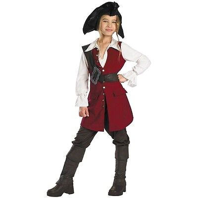 girls 4-6X ELIZABETH PIRATE Halloween costume from Pirates of the Caribbean ](Pirates Of The Caribbean Elizabeth Halloween Costume)