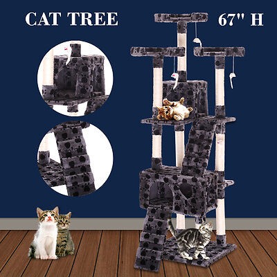 "New 67"" Cat Tree Tower Condo Furniture Scratching Post Pet Kitty Play House"