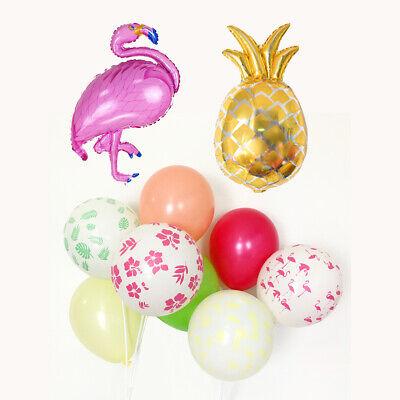 Flamingo Pineapple Balloons Hawaiian Tropical Luau Party Decorations Supplies (Luau Birthday Party Decorations)