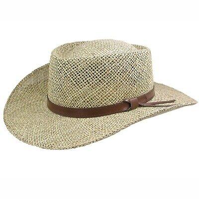 Stetson Gambler - Seagrass Straw Outdoorsman Golf Hat Seagrass Gambler Hat