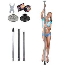 Barre de pole dance acier en inox.  réglable sport pratique femme fitness