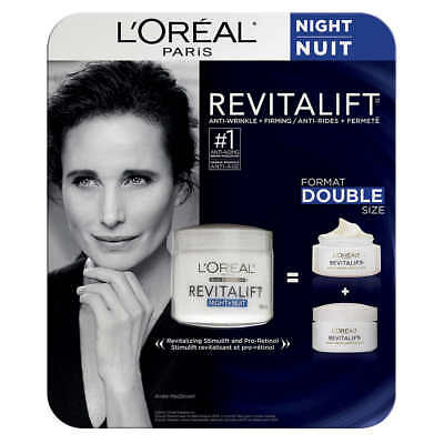 LOreal Paris Skin Care Revitalift Anti Wrinkle And Firming Night Cream 3.4 oz Anti Wrinkle Night Cream