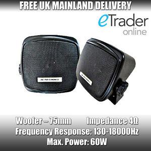 2 Way 120 Watt Caravan Motorhome Classic Car Pod Shelf Surface Mount Speakers