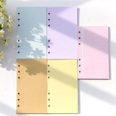 1 Set A5a6 Blankruledlattice Planner Diary Insert Refill Organiser 40 Sheets