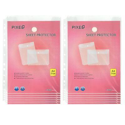 A4 Sheet Protectors Wallet Portrait Orientation Velcro Fastening (Pack of 12)