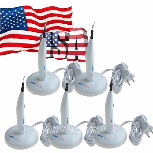 5 X Dental A-BLADE Gutta Percha Tooth Gum Cutter & 4 Tips 110/220V Wireless Mode