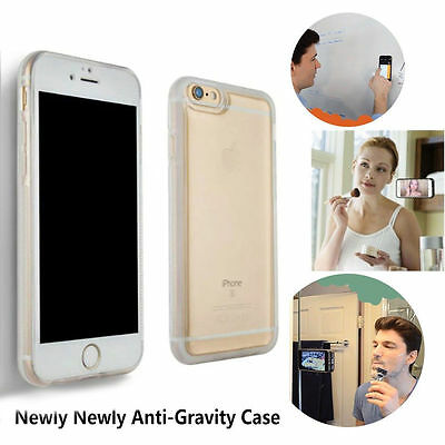 Clear Anti Gravity Magical Case Nano Sticky Phone Cover For iPhone 8 6S 7 Plus X