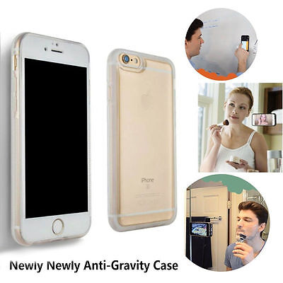 Clear Anti Gravity Magical Case Nano Sticky Phone Cover For iPhone 8 6S 7 Plus -