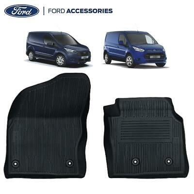 Car Parts - Genuine Ford Transit Connect Front Rubber Floor Mats Black Tray 2013- 2263239