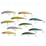 Lot 10pcs of Fishing Lures Crankbaits Hooks Minnow Bass Baits Hooks Tackle