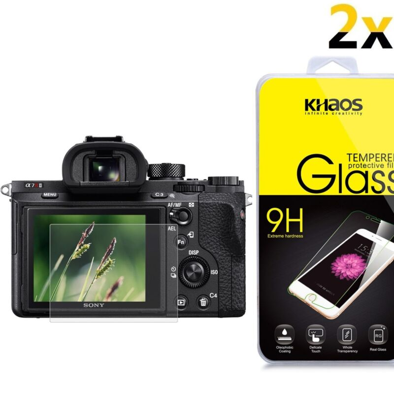 [2-Pack] KS Glass Screen Protector For Sony RX100III RX100II RX100 IV V RX 1R