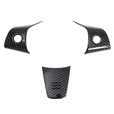 Carbon Fiber Steering Wheel Cover Frame Trim Accessories For Tesla Model 3 2018+