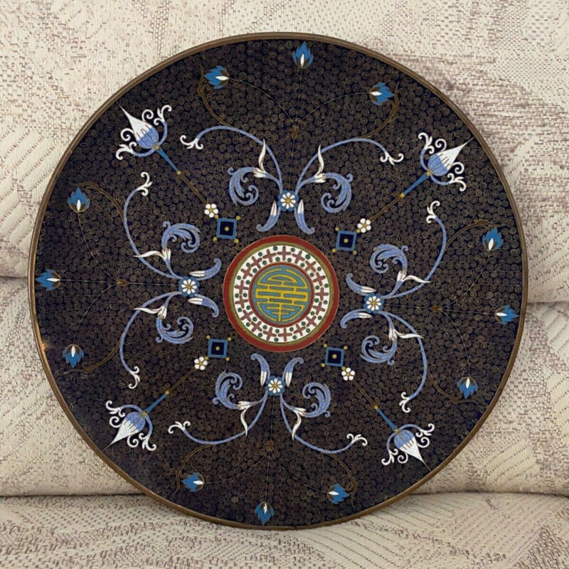 Rare Antique Chinese Cloisonné Plate/Charger