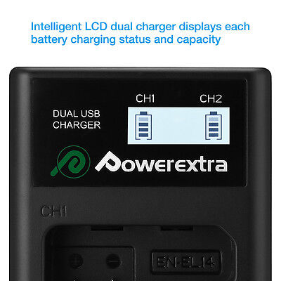 NP-FW50 Battery&Dual Charger LED Display For Sony A6000 A6300 A5000 Alpha A7 A7R