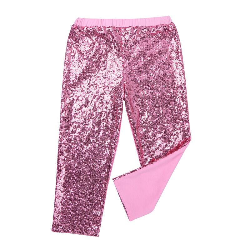 Kids Girls Gymnastics Dance Outfit Digital Printed Tank Crop Top+Legging Costume