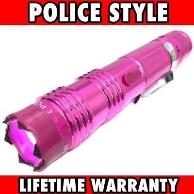 Pink MONSTER Metal Stun Gun 16 Million Volt Rechargeable LED Flashlight New!](Pink Monster)