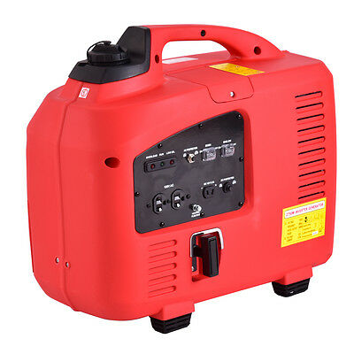Portable 2750W Digital Inverter Generator 4 Stroke 125cc Single Cylinder Red New