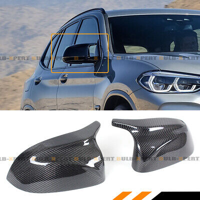 FOR 2018+ BMW X3 X4 X5 G01 G02 G05 M HORN CARBON FIBER REPLACEMENT MIRROR COVERS