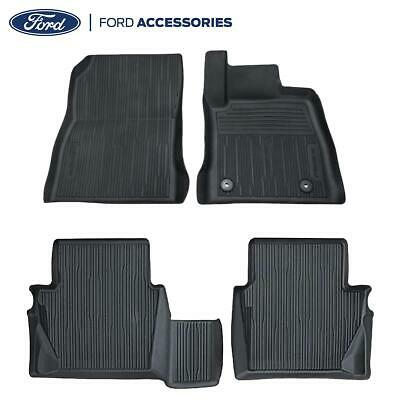 Car Parts - Genuine Ford Fiesta MK8 Front & Rear Black Rubber Floor Mats Tray Style 2017-