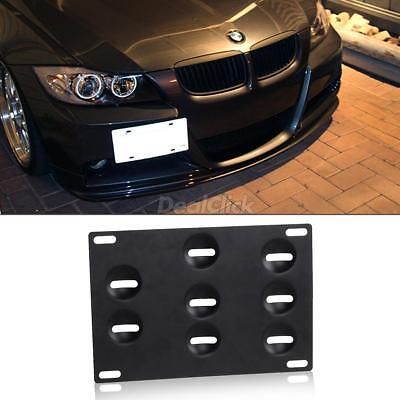 Front Bumper Tow Hook License Plate Mounting Bracket Relocate Holder for BMW (Bmw License Plate Holder)