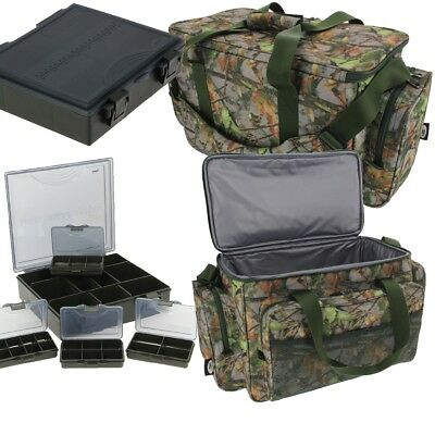NGT Carp Fishing Insulated CAMO Tackle Bag Holdall 709 + 4+1 Coarse Tackle Box