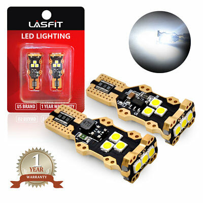 LASFIT T15 LED Reverse Backup Light Bulb 921 912 6000K Pure White GMC Ford Chevy