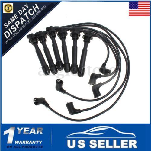 Ignition Spark Plug Wire Set For Kia Tiburon Sonata Santa Fe 2.7L V6 09015 3878
